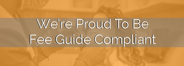 Were Proud To Be Fee Guide Compliant