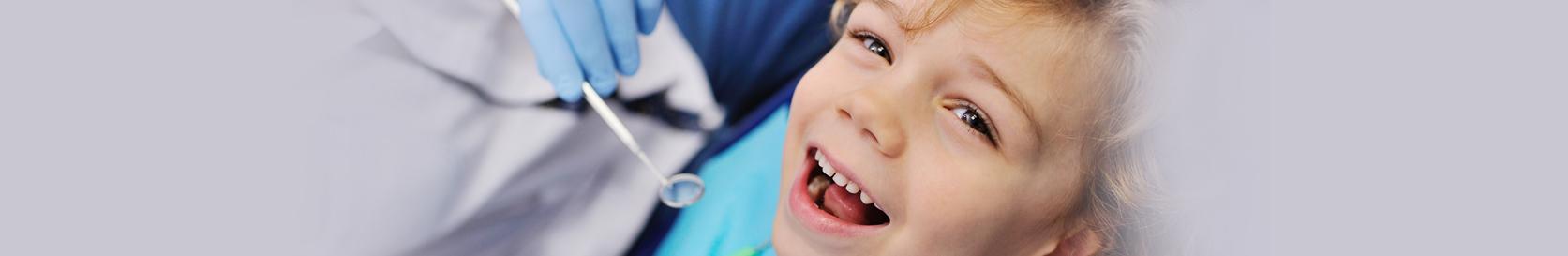 Boy gets dental exam
